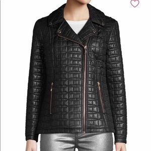 KATE SPADE QUILTED NOTCH LAPEL BLACK PUFFE…